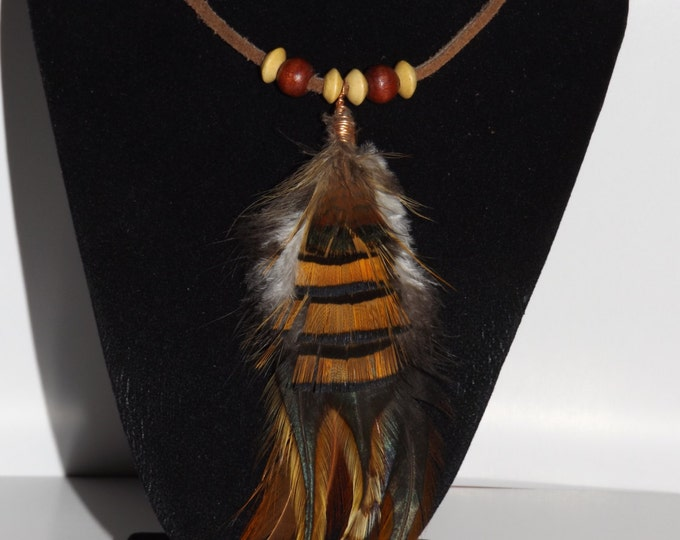 Feather Necklace, Native American inspired Jewelry, Feather Necklace, Feather Jewelry