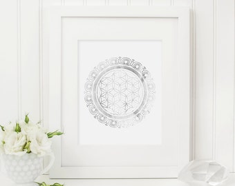 Sacred Geometry - Flower of Life - Silver