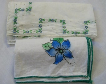 Vintage Handkerchief, Hankies, Floral Handkerchief, Set of Hankies, Colorful Hankies, Vintage Hankie