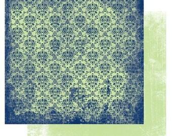 """Glitz Designs 12x12 double-sided scrapbook paper """"Maya Damask"""""""