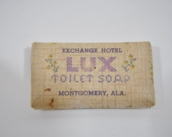 Vintage Lux Hotel Soap from the Exchange Hotel in Montgomery Alabama