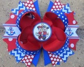 Disney Cruise Line WONDER FANTASY Magic Dream Ship Minnie Mouse Nautical Mickey Mouse Custom Boutique Hair Bow