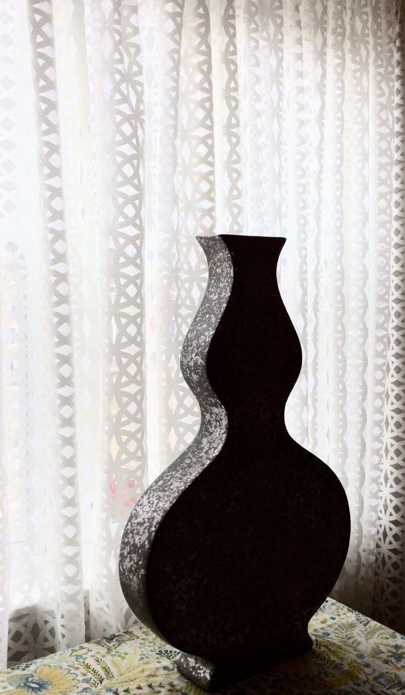 moroccan bohemian curtain pair in sheer white geometric print