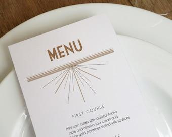 Deco Printable Menu Template - Wedding Menu - Instant Download - Printable Menu Template - Menu Template - Menu Cards - Printable Menu PDF