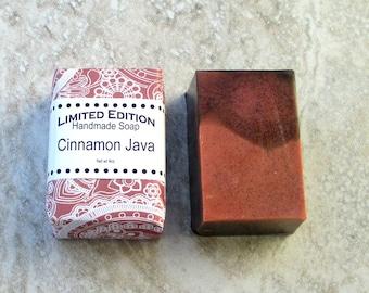 Cinnamon Java Handmade Shea Soap, Gentle soap recipe, Coffee Spice fragrance, block shape