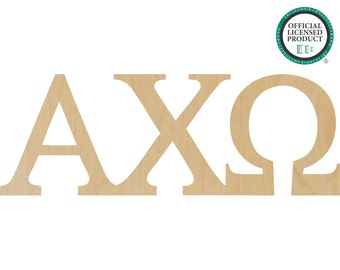 Alpha Chi Omega Greek Letters Connected - Alpha Chi Letters, Alpha Omega Letters, Chi Omega Letters - A11050606