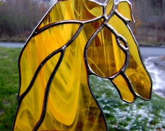 Stained Glass Horses Equine Chestnut Rodeo Western Riders English Saddle Fox Hunt Foal Mare Stallion Equestrian Christmas Yule
