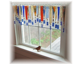 Complimentary My Dear Watson Stained Glass Window Treatment Valance Curtain