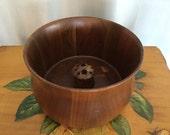 Walnut Bowl Vintage Brown Wood Nuts