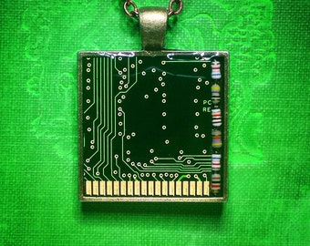 Circuit Board Pendant - Resistors and Brass