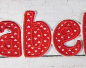 Individual Letters for Spelling Names or Initials or Monograms - Iron On or Sew On Embroidered Letters  READY TO SHIP in 3-7 Business Days