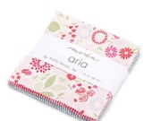 ON SALE Aria Charm Pack Fabric -  Moda - Kate Spain - Butterflies and Flowers