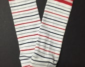 Baby Toddler Child Adult Leg Warmers / Arm Warmers - Patriot Stripes