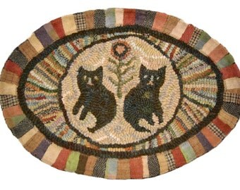 Primitive Rug Hooking or Needle Punch Paper Pattern