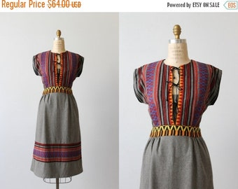 SALE 1970s Festival Dress / 1970s Dress / Boho Dress / Bohemian / Potage