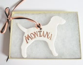 Personalized Dog Ornament 37 Breeds Available