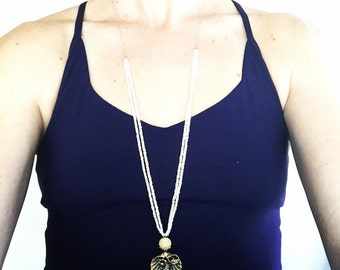 Gorgeous Fresh Water Pearl Beaded with Chain Necklace
