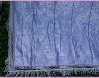 vintage Italian bedspread loaded with CHERUBS  So pretty!  Shabby French style NEVER USED