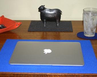 Large Laptop Desk Mat Pad Desktop Mat Computer Accessories 5mm Thick Merino Wool Felt Desk Blotter Lap Top Cubicle Office Decor deskie