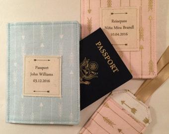 Baby's First Passport Cover,  Personalized Baby Gift, Passport Cover and Luggage Tag Set, Baby's Firs Passport Case, Passport Holder