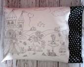Princess Color Me Pillowcase, A Royal Life Color Me Pillowcase, Kids' Party Project, Easter Basket Stuffer, Eco-Friendly Pillowcase, LDM