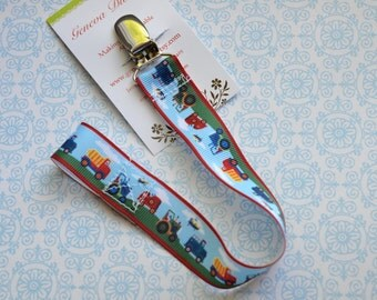 Tractors and Trucks Pacifier Clip