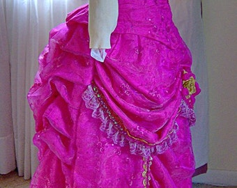 FOR ORDERS ONLY - Custom Made - 1800s Victorian Dress - 1880s Bustle Evening Gown - Dance Ballgown Formal - Wedding Bridal Pageant Theater