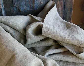 C 590 antique DUVETCOVER OLIVE green coverlet upholstery fabric elegant cushion