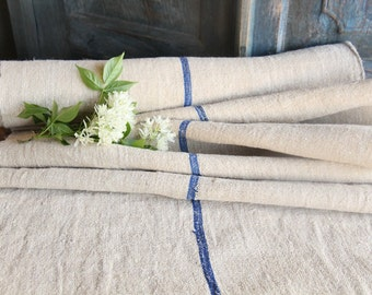 R 108 antique WATER BLUE 6.55y lin upholstery fabric tablerunner cushion 21.26 wide wedding decor