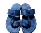 20% OFF Blue Twizzle Leather Sandals for Men & Women
