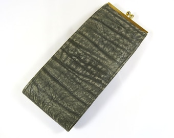 Vintage Buffalo Eyeglass Case, Grey Leather