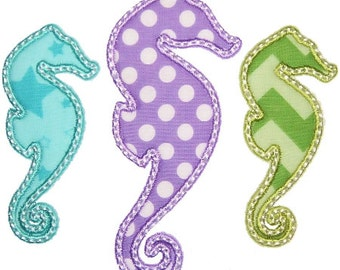 Iron On Applique SEAHORSES, DIY , iron on, iron on patch