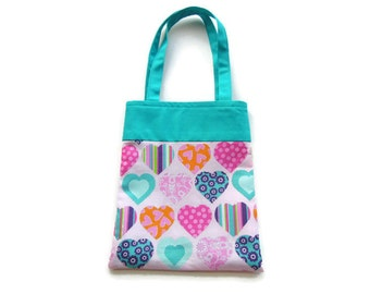 Fabric Gift/Goodie Bag - Hearts