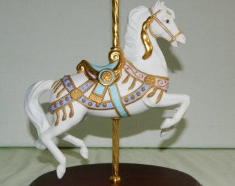 1987 Franklin Mint Carousel Magic Lynn Lupetti Carousel Horse Hand Painted Porcelain