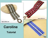 Tutorial Caroline SuperDuo and Tila Beadwork Bracelet PDF