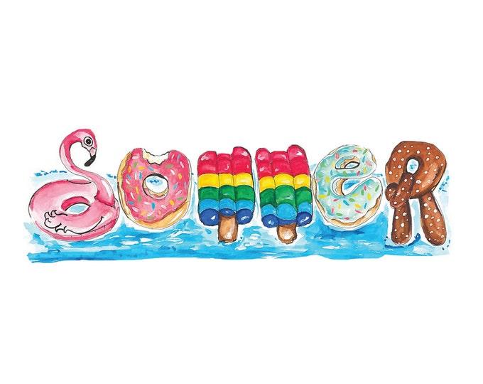 Summer Floatie Print - Instant Download