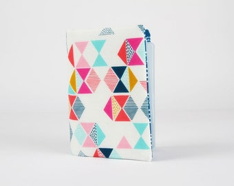 Fabric card holder - Parade / Cotton Candy / Dashwood studio / Mustard yellow pink navy blue teal blue white / triangles
