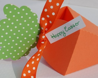 easter carrot treat box favor box place card setting set of 6