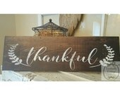 Handpainted Thankful sign