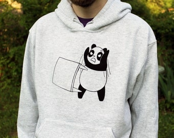 Angry Panda Hoodie - Panda Flipping a Table Hooded Sweatshirt