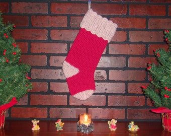 SALE! OVER 50% OFF!! Crochet Christmas Stocking. Ready to Ship!