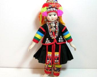Vintage Oriental Folk Doll