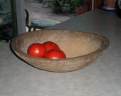 reserved for Heidi - antique wooden BOWL