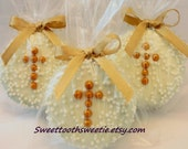 Gold Cross Chocolate Covered Oreos Cookies Baptsim Favors Christening Communion Cookies Baby Shower Cross Cookies Confirmation Favors 1 DOZ.