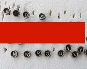 13 vintage typewriter keys, all letters,  Royal Typewriter, destash,  jewelry supply , steampunk, industrial art