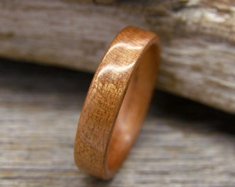 Cherry Bentwood Ring - Handcrafted Wooden Ring