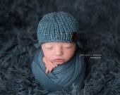 RTS Blue Stretch Knit Wrap Newborn Baby Photo Props, Twilight Teal Blue Lux {Luxury} Ready to Ship, Newborn Photography Props, Baby Boys