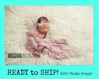 RTS Pink Newborn Stretch Knit Wrap Photography Props, Stretch Knit Wraps, Rouge Pink Lux {Luxury} Baby Knit Wraps, Girl Props, Swaddling