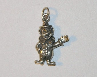 Vintage Circus Clown Sterling Silver Charm