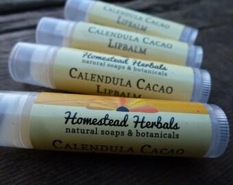 Calendula Cacao Lipbalm / Organic Lipbalm / with Organic Calendula / healing lipbalm / herbal lipbalm